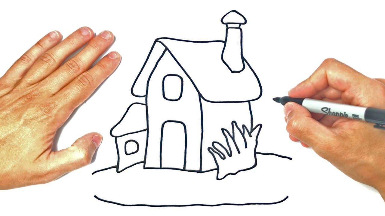 Cómo dibujar un Casita | Dibujo de Casita