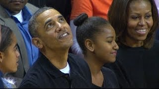 President Barack Obama Attends Oregon State vs Maryland Basketball Game | ACCDigitalNetwork