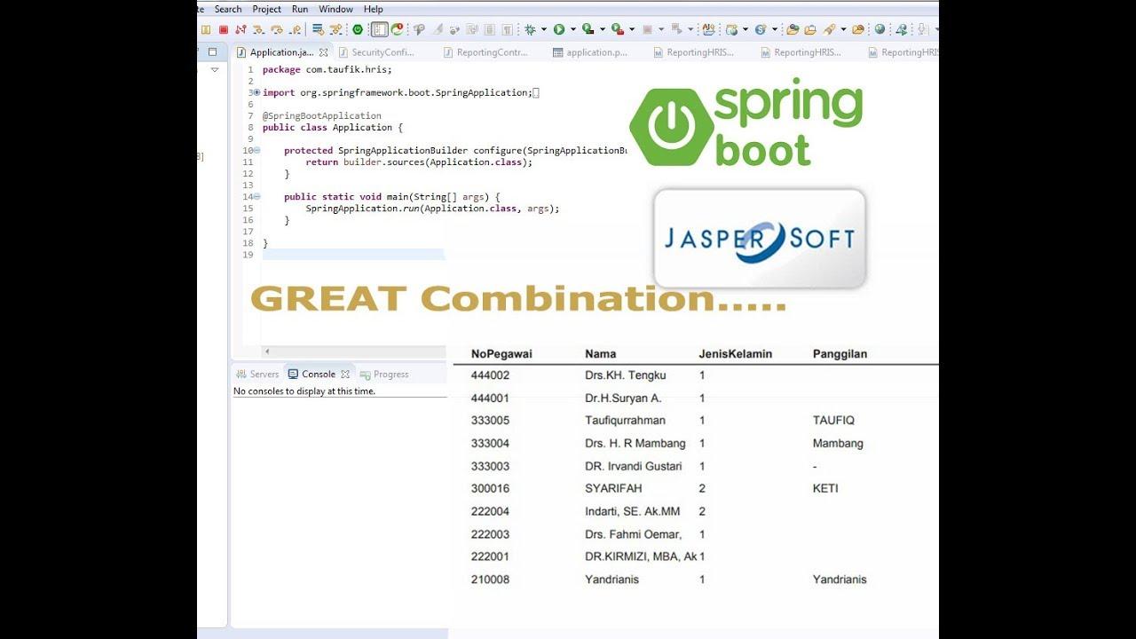 Great Combination Restfull API + Spring Boot + Jasper Report