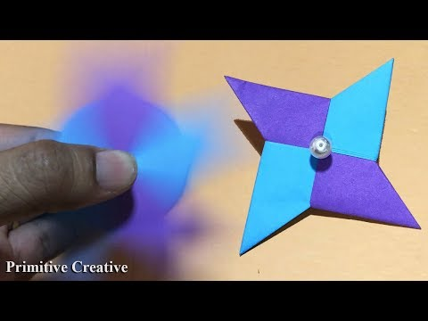 How To Make Paper Fidget Spinner without Bearings easy, DIY, Primitive Creative