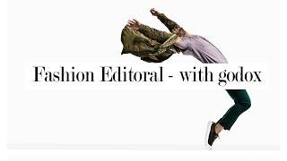 male fashion editorial using godox ad600 ar400