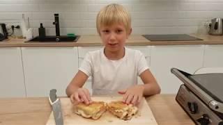 Панини // быстрый горячий бутерброд // быстрый рецепт // готовят дети // paninisandwich