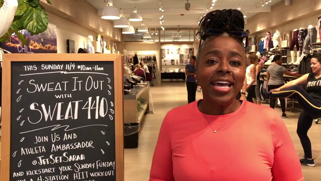 ICYMI: Sweat 440 Pop-Up Workout at Athleta Lincoln Road