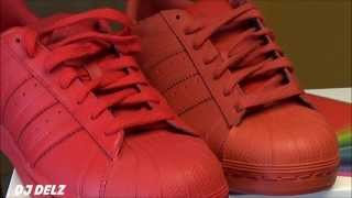 Pharrell Williams x adidas Superstar Supercolors Red Brick VS Red Shoe Comparison Review
