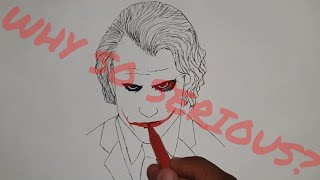 Joker Sketch | Easy way to Draw | Step By Step | A4 ART