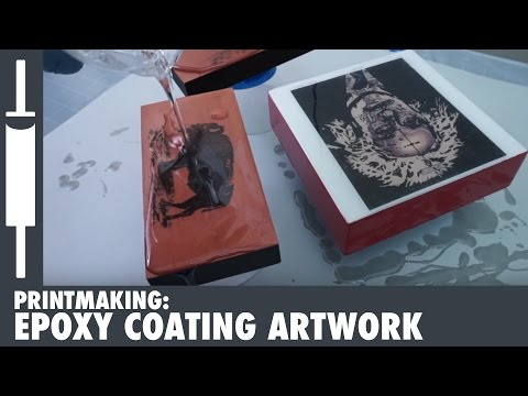 How to Epoxy Coat Artwork with ArtResin