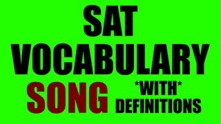 SAT Vocabulary Song Part 1: 55+ Words & Definitions