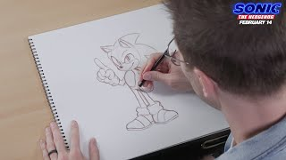 Sonic The Hedgehog (2020) - How To Draw Sonic - Paramount Pictures