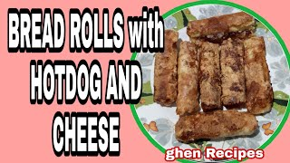 Bread Toast with Hotdog and Cheese   Bread Roll Recipes  