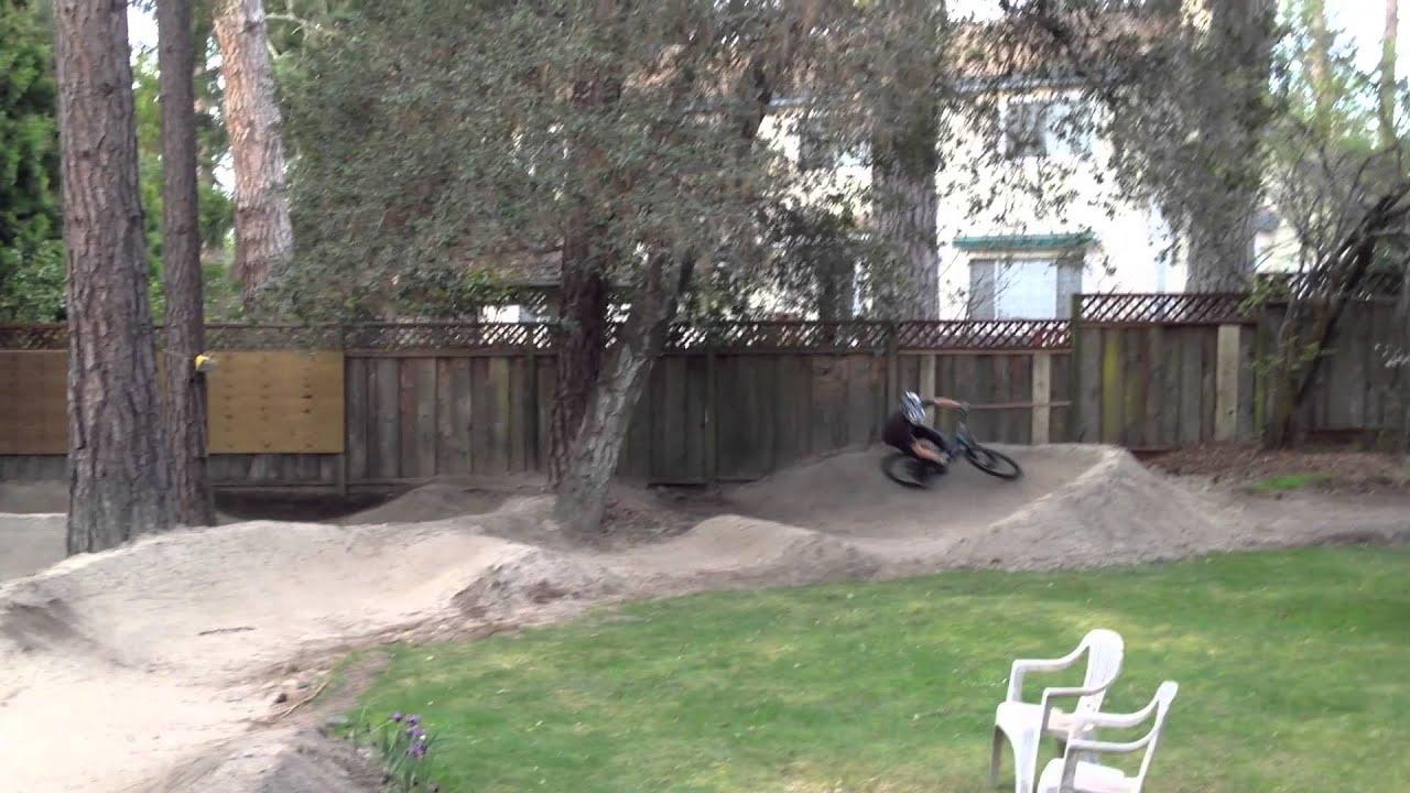 backyard pump track in norcal youtube