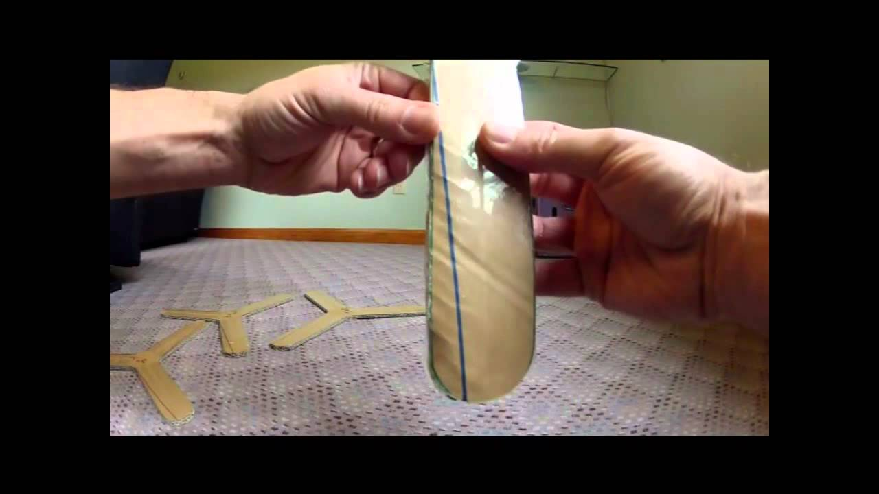 How To Make A Cardboard Paper Boomerang That Returns Your Hands