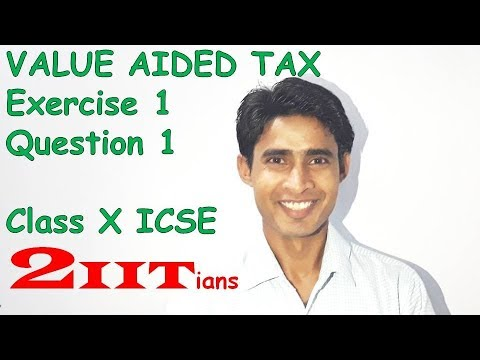 Value Added Tax Exercise 1 Question 1 Class X ICSE