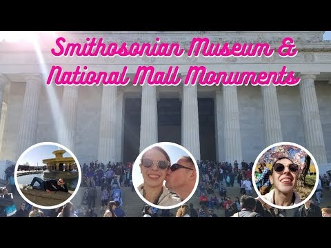 A Weekend in Washington DC Vlog - Day 2 - Smithsonian Natural History Museum, Monuments, & Food
