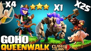 How to Queen Walk GoHo Clash of Clans | 3 Star War Attack Strategy for TH9 | Best Th9 attack