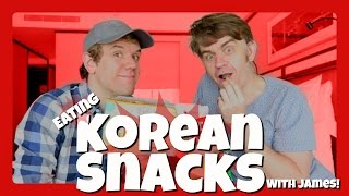 EATING KOREAN SNACKS | Taste Testing Food | Les Mis | Matt Harrop