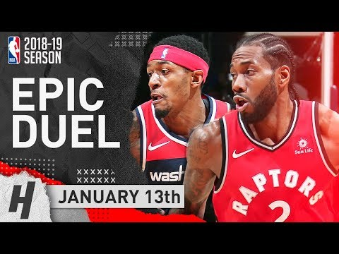 Kawhi Leonard vs Bradley Beal AMAZING Duel Highlights 2019.01.13 - 41 Pts for Kawhi, 43 for Beal!