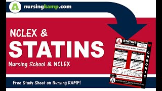 NCLEX and Statins and what you need to know Cardiac Lecture Nursing KAMP Medications 2019 NCLEX