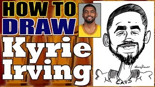 How To Draw A Quick Caricature Kyrie Irving