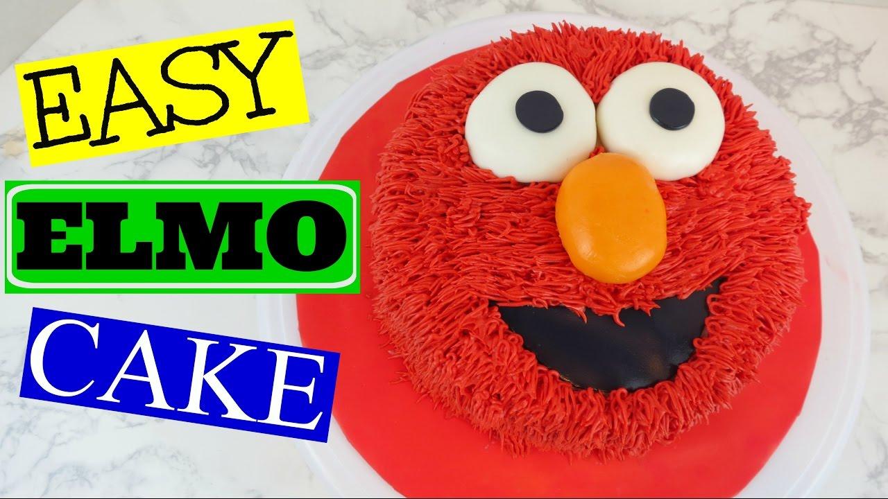 How To Make An Easy Elmo Cake Youtube