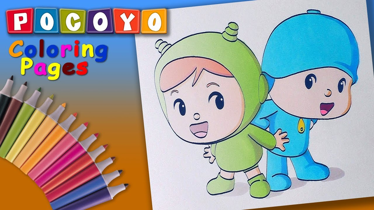 Best Pocoyo Coloring Book Forkids Pocoyo And Nina Coloringpages Youtube