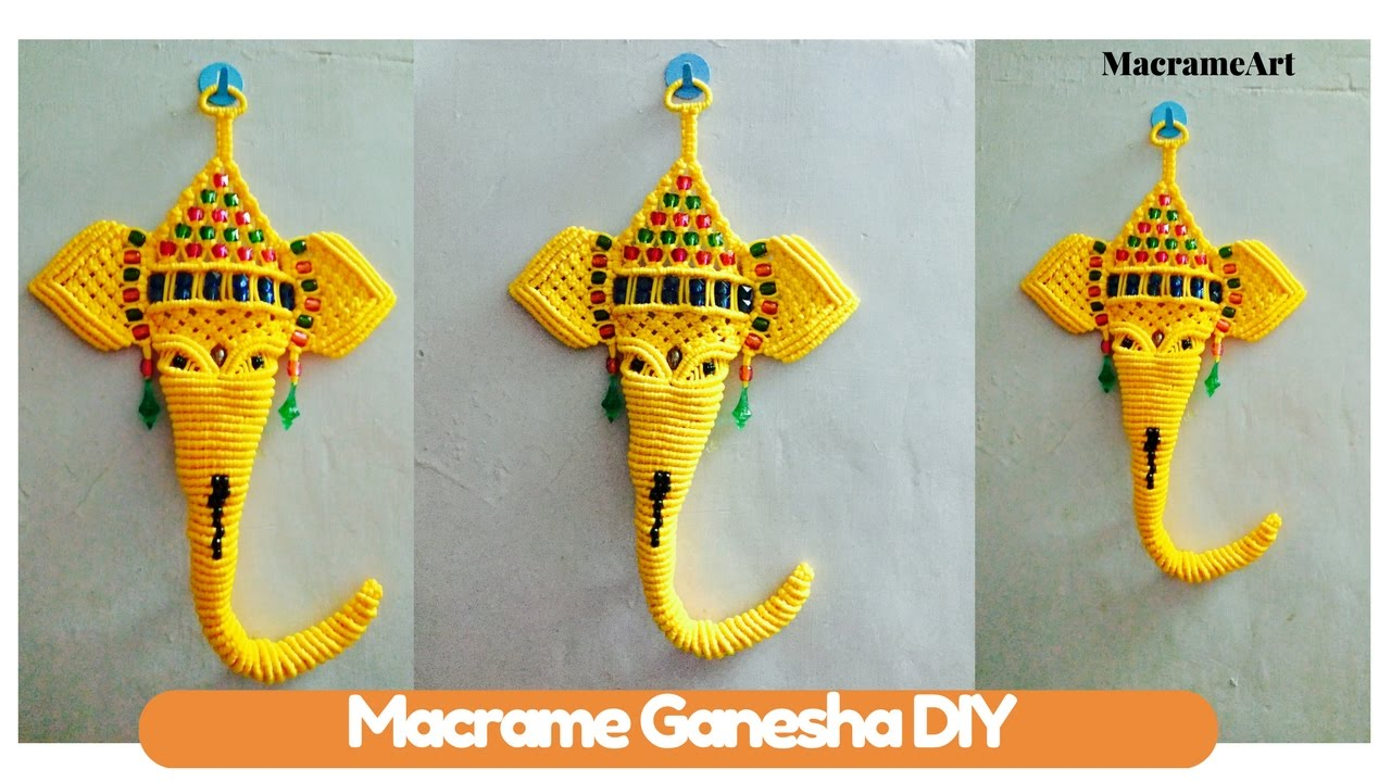 Diy Macrame Tutorial Of Macrame Ganesha How To Turn