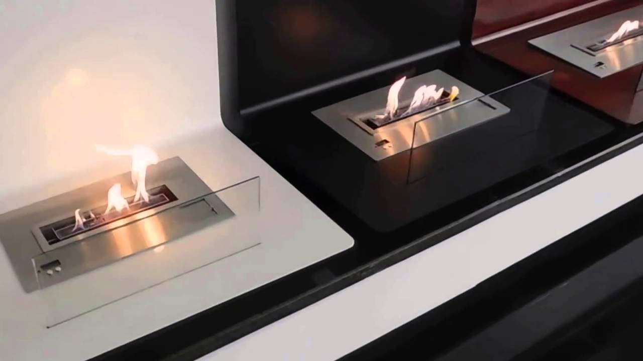 afire bio ethanol fireplace with remote control youtube