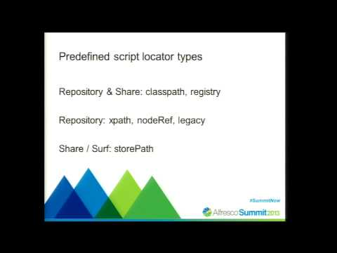 Alfresco Summit 2013: Enhanced Script API: Dynamic Import & Batch Processing
