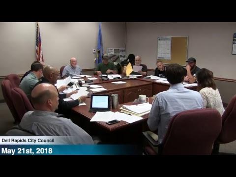Dell Rapids City Council  Meeting - 5/21/18