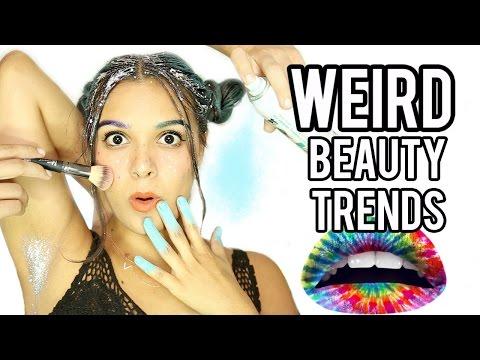 10 WEIRD Beauty Trends Tested! NataliesOutlet
