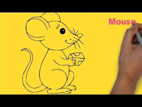 Dạy bé vẽ con chuột | How to draw mouse?