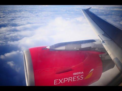 (4K) Iberia Express Airbus A320   Madrid to London Gatwick   Flight Video - IB3718