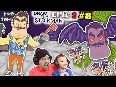 Thumbnail: HELLO NEIGHBOR can u DRAW A STICKMAN EPIC 2 so FGTEEV can play Chapter 8 THE END Boss Fight w/ KEYS