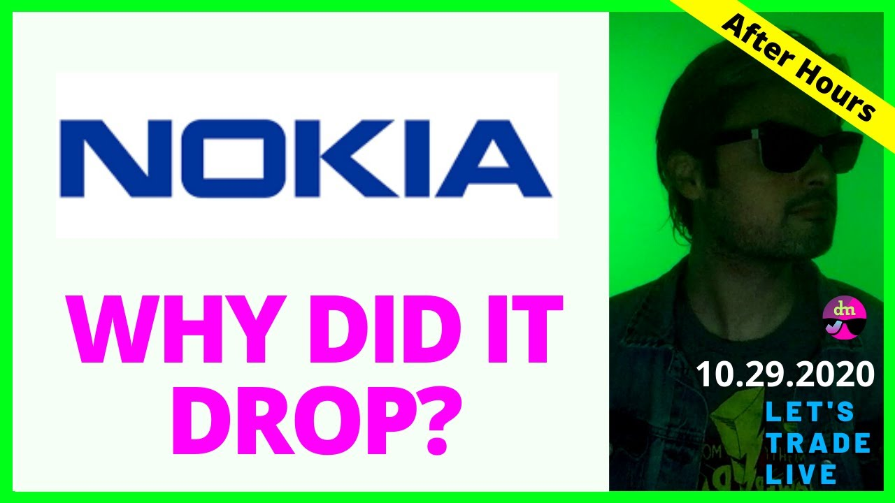 Why did Nokia stock go down today?