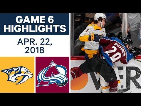 NHL Highlights | Predators vs. Avalanche, Game 6 - Apr. 22, 2018