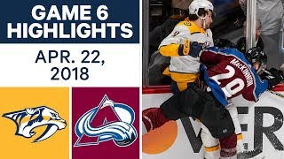 NHL Highlights | Predators vs. Avalanche, Game 6 - Apr. 22, 2018