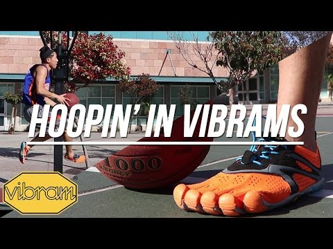 1v1 Playing Basketball in VIBRAMS!