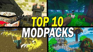 Top 10 Best Mine¢raft Modpacks To Play Now - October 2021