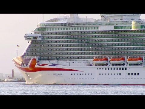 P&O Cruises Britannia cruise ship in Lisbon