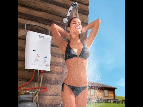 Tankless Water Heaters For Camping Shower   OFF GRID   PORTABLE   NO  ELECTRICITY NEEDED   YouTube