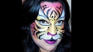 Tiger face painting tutorial Thumbnail