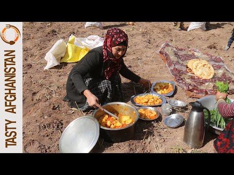 EASY AND TASTY POTATO STEW | AFGHANISTAN VILLAGE FOOD BAMYAN