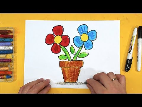 Как легко нарисовать цветочек