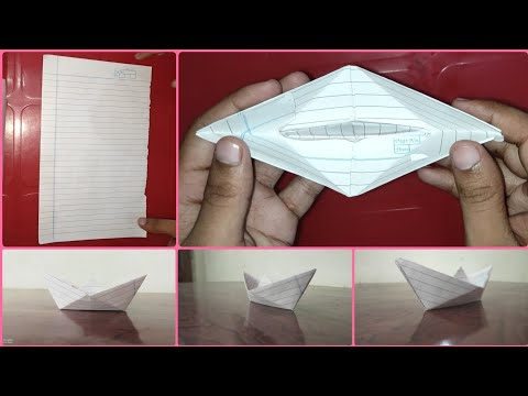 How to Make A Paper Boat Or Ship Art Craft DIY Origami By Magical Abhinav Crafts