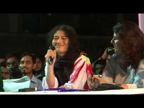Irom Sharmila Speaks in JNU at a Public Meeting at Shipra Hostel