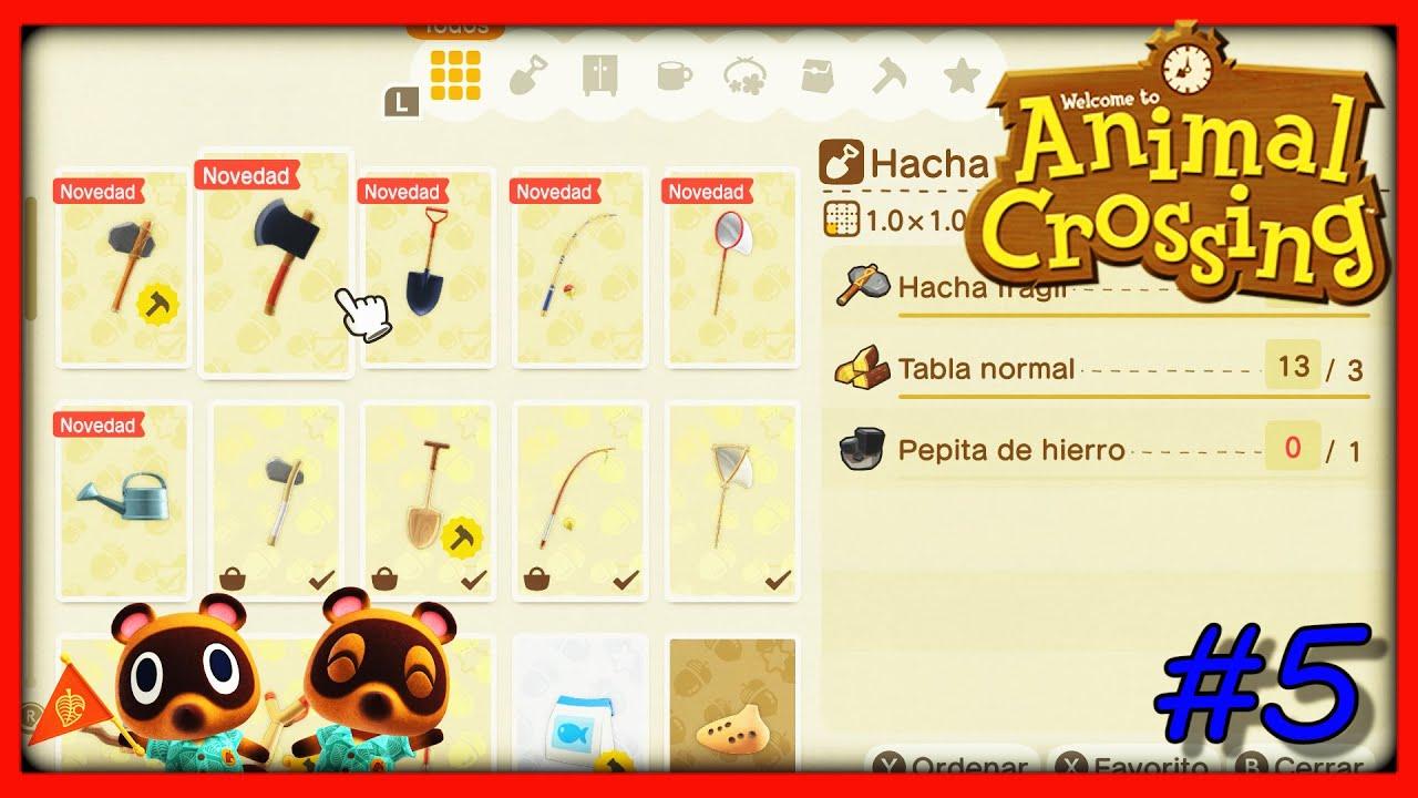 Hazte con todas las herramientas de Animals Crossing: New Horizons.