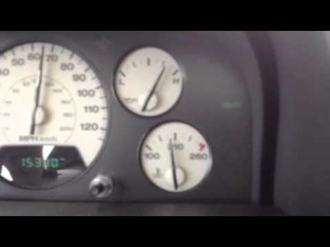 jeep 2002 wj intermittent voltmeter and check gages - youtube