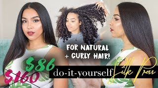 SAVE and SLAY! At Home Silk Press on Natural Hair | TUTORIAL