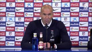 Zidane analiza la victoria por 0-3 frente al Atlético