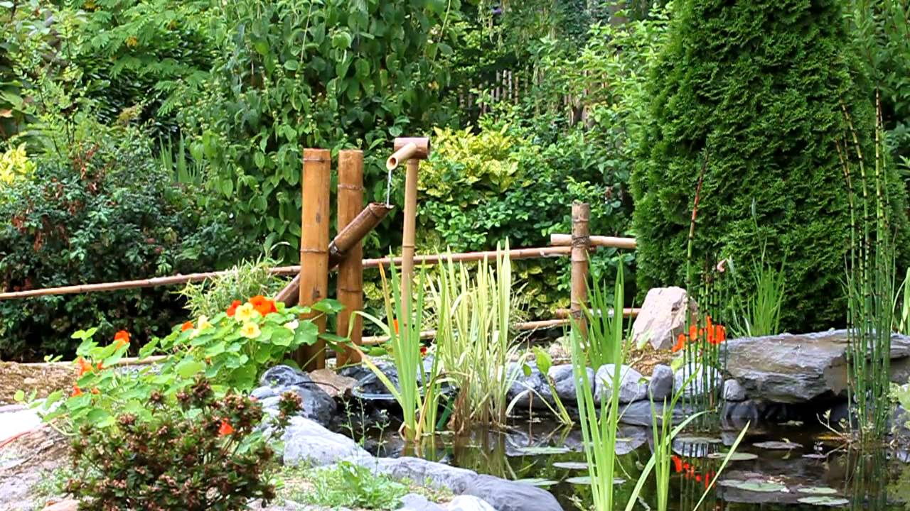 Jardin Avec Fontaine Zen fontaine bambou - youtube
