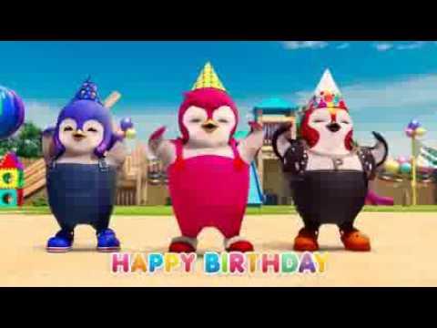 Happy Birthday Song Penguin dance Happy Birthday to you   YouTube 240p